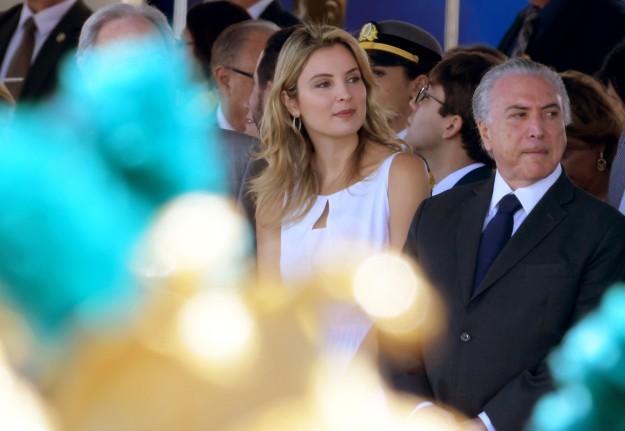 Foto do Michel Temer e sua esposa Marcela Temer