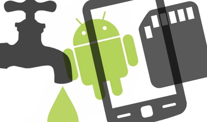 Imagem de vazamento Android