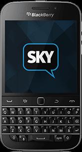BlackBerry Classic com o app SkyECC