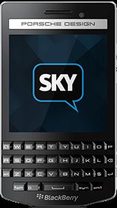 BlackBerry Porsche P9983 com o app SkyECC