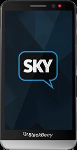 BlackBerry Z10 com o app SkyECC