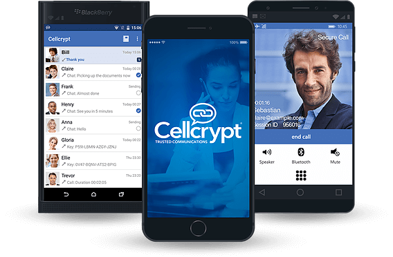 O Cellcrypt é multiplataforma funciona no Android, iOS, BlackBerry e Windows