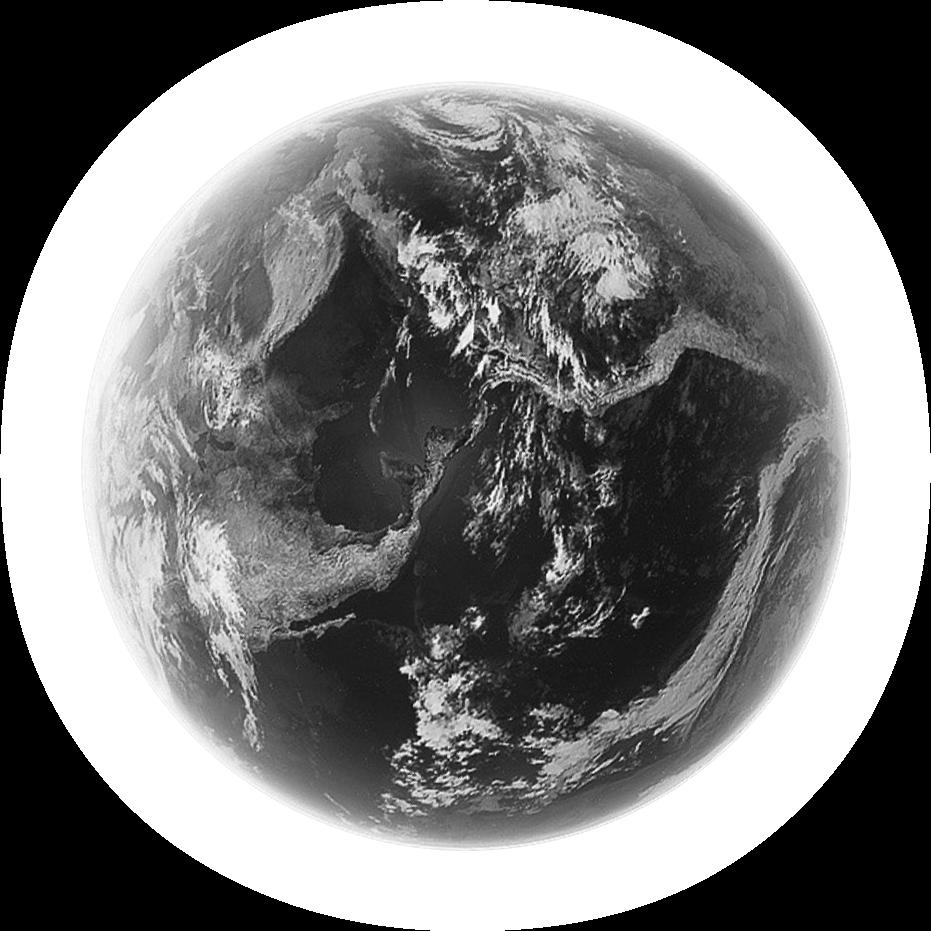 Imagem do planeta terra em preto e branco