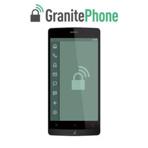 Imagem do GranitePhone com a logo acima do aparelho