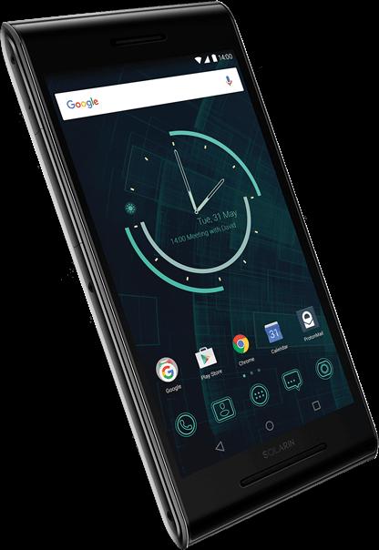 Imagem do smartphone Solarin