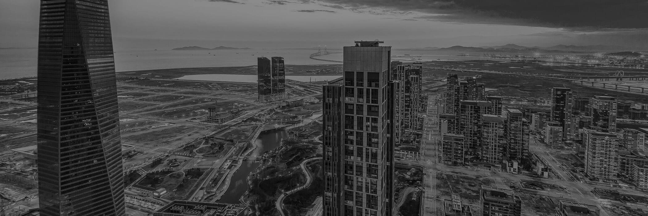 Fundo de tela de Dubai em Preto e Branco