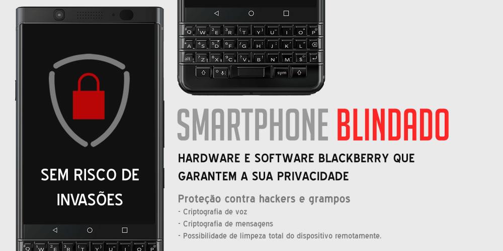 Linha completa de Smartphones criptografados antigrampo da BlackBerry